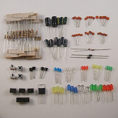 Electronics Parts Starter Kit: ICs, Capacitors, Transistors and More