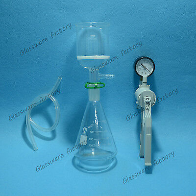 500mlsuction Filtration Devicebuchner Funneltriangle Flask With Vacuum Pump