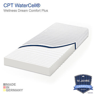 CPT WaterCell® 7 Zonen Wellness Komfort Plus Marken Matratze - Öko Zertifiziert