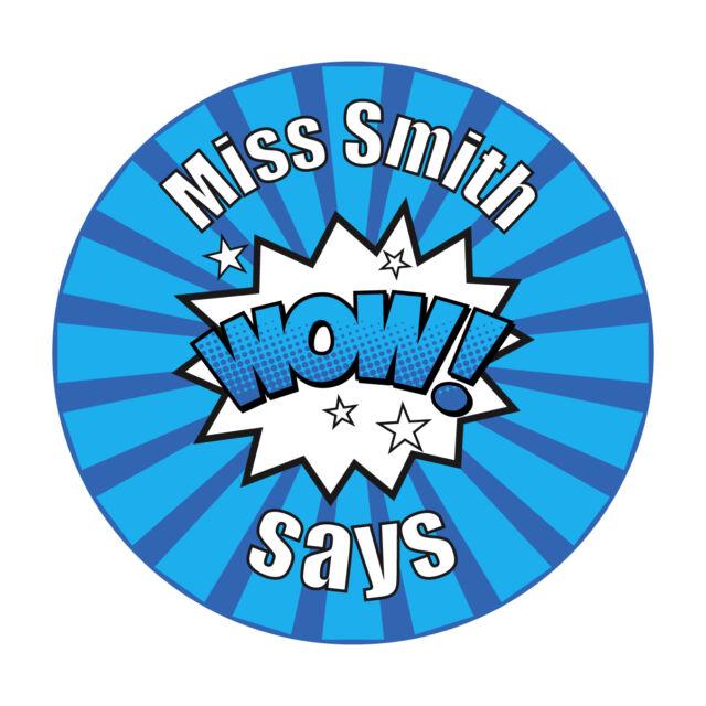 80 Personalised Teacher Reward Stickers for Pupils Fantastic Work.
