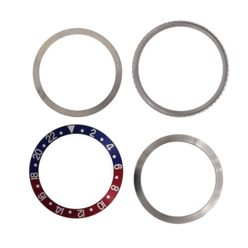 Rotating Bezel Assembly For Rolex GMT 1675 16750 16753 Blue and Red Insert