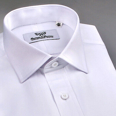 Best Mens White Wrinkle Free Formal Business Dress Shirt Size Small 38 Neck B2B