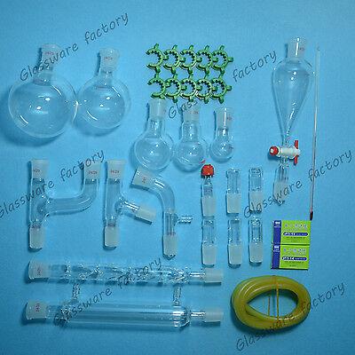 29pcs2429organic Chemistry Glassware Kitlaboratory Chemistry Kitlab Glass