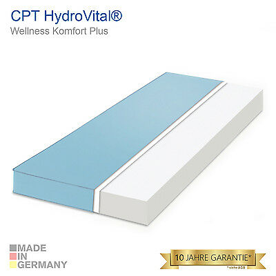 CPT HydroVital Wellness Komfort Plus Marken Kaltschaum Matratze 90x200 H2 - Blau