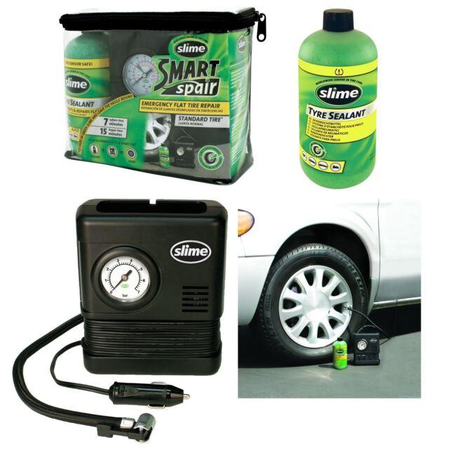 Emergency Slime Smart Repair Tyre Pump Puncture Inflator Compressor Sealant Kit+