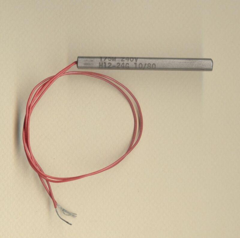"FAST HEAT Cartridge Heater 1/4"" Dia X 2 1/2"" Long 175W 240V 10"" Teflon  Leads"