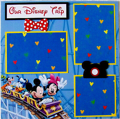 OUR DISNEY TRIP   ONE 12X12 Premade Scrapbook Page