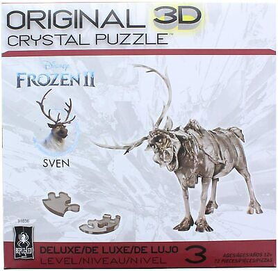 BePuzzled 3D Crystal Puzzle - Disney Frozen II - Sven the Reindeer: 72 Pcs