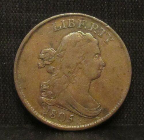 1805 Draped Bust Half Cent XF