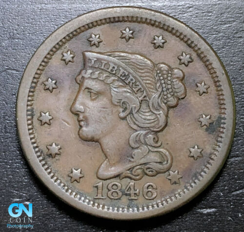 1846 Braided Hair Large Cent --  MAKE US AN OFFER!  #B3278