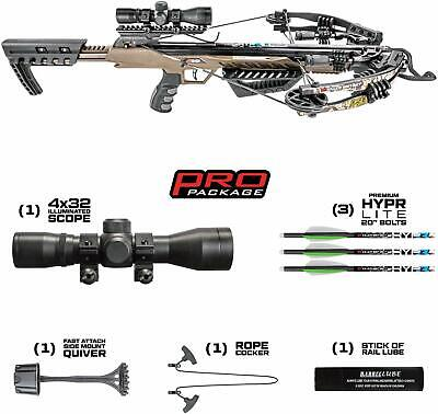 New Killer Instinct RUSH 380 Illuminated 4x32 Scope Crossbow Package 1001