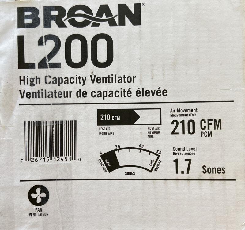 Broan-NuTone 210 CFM High-Capacity Ventilation Bathroom Exhaust Fan L200