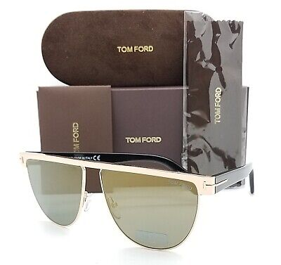 New Tom Ford Stephanie sunglasses FT0570 28C 60mm Shiny Rose Gold Smoke (Tom Ford Rose Gold)