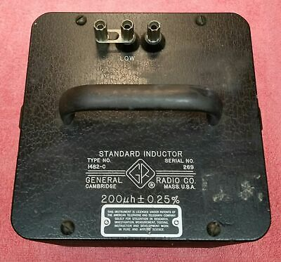 General Radio Co. 1482-c Standard Inductor 200uh 0.25