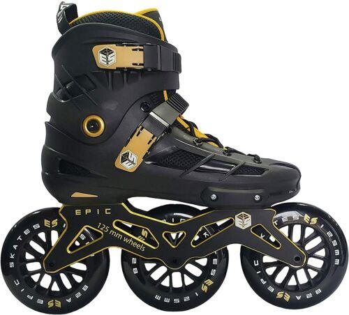 New! Epic Skates 125mm Engage 3-Wheel Inline Speed Skates