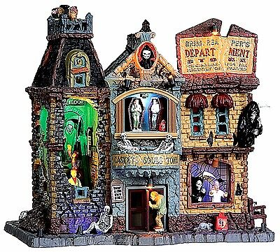 Spooky Town Halloween Store (Lemax 35492 GRIM REAPER'S DEPARTMENT STORE Spooky Town Building Sights Sounds)