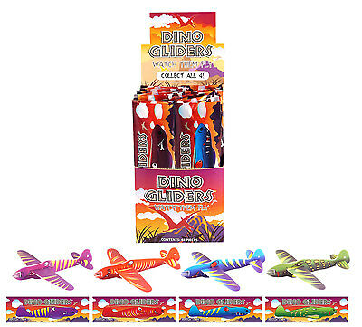 Box of 48 Flying Dinosaur Gliders - Brand New Wholesale Pocket Money Toys