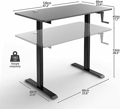 Standing Desk, 47 Inch Adjustable Height Desk, 20dB Noiseless and Smooth Lifting Furniture
