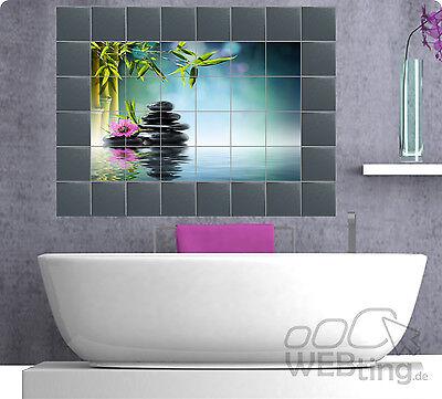Bad Badezimmer Bild (Fliesenaufkleber Fliesenbild Fliesen Aufkleber Sticker Badezimmer Bad Folie)