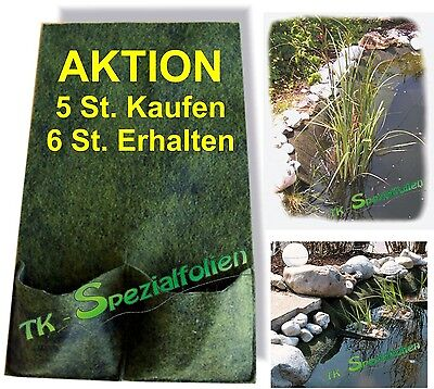 Pflanztaschen Teichpflanztaschen Böschungstaschen Pflanztasche Teichpflanze 5+1
