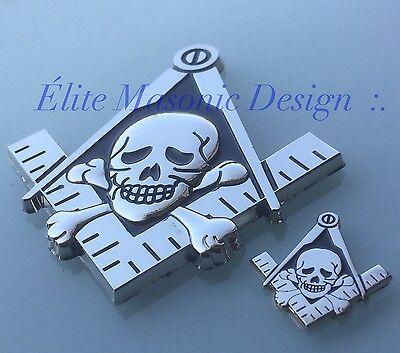 New Masonic Master Mason Cut out Car  Emblem Silver/Black