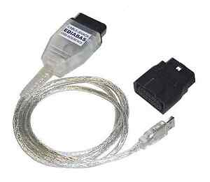 BMW USB - OBD K + Dcan Diagnostic Cable  UK GT1 Ediabas Inpa DIS SSS NCS