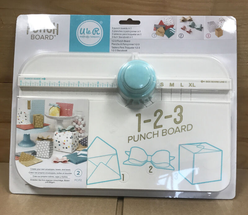 American Crafts - We R Memory Keepers 123 Punch Score Board (NEW) Free Shipping
