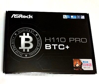 ASRock H110 Pro BTC+13GPU Express Slots Mining [From JAPAN]LGA1151