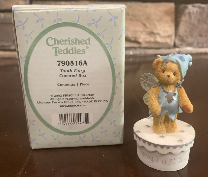 Cherished Teddies Tooth Fairy Covered Box 790516A Figurine