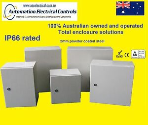 400x400x200 HD OUTDOOR GALVANISED METAL ENCLOSURE SWITCHBOARD  IP66 AE404020