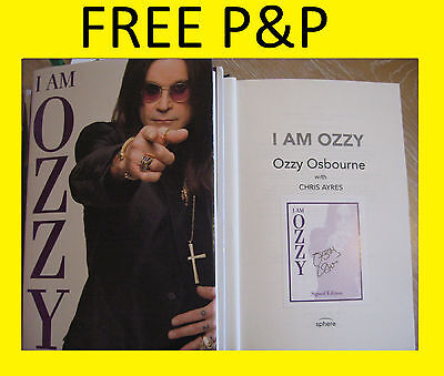OZZY OSBOURNE HAND SIGNED BOOK AUTOGRAPH WITH COA I AM OZZY BLACK SABBATH