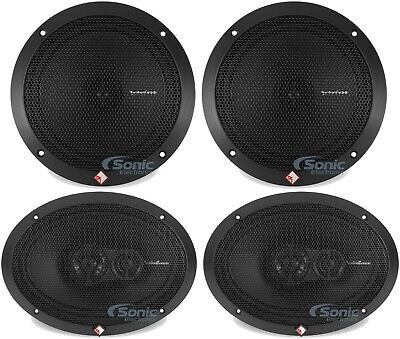 """Rockford Fosgate R169X3 6x9"""" 260W Speakers + R1675X 6.75"""" Car Coaxial Speakers, used for sale  Shipping to South Africa"""