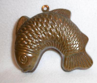 ++  kleinere Kupfer Backform  - Fisch Kupferbackform 10 x 8 cm ++Hhj