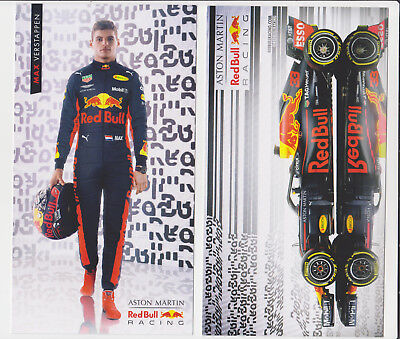 2018 NEW ! Max Verstappen F1 Red Bull Racing Card Promo Postcard Netherlands #33 for sale  Shipping to United States