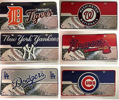 MLB Teams Metal Tag License Plate Auto Truck Car NEW