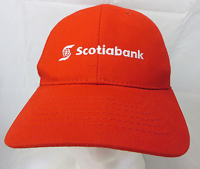 Scotia Bank  baseball  cap hat adjustable v red (Scotia Bank)