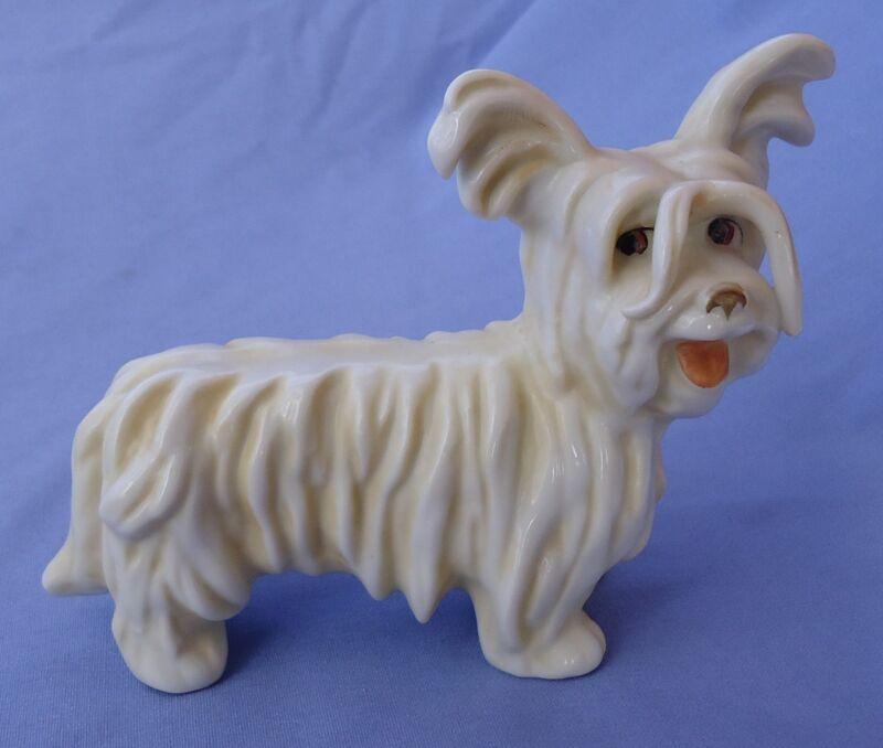 "1930 SKYE SILKY  PAPILLON TERRIER BRIARD BOSSE DOG GOEBEL GERMANY 6"""