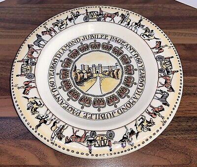 Queen Elizabeth 2nd Diamond Jubilee Pageant Plate
