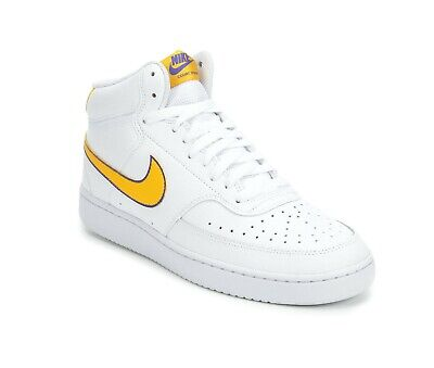 NIKE COURT VISION MID TRAINER WHITE & GOLD ADULT UK 9 /...