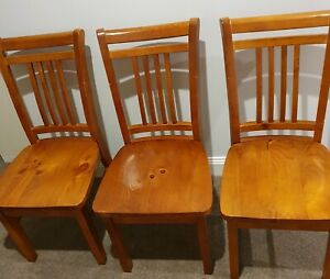 Solid wooden chairs x6 - $30each or $150 LOT
