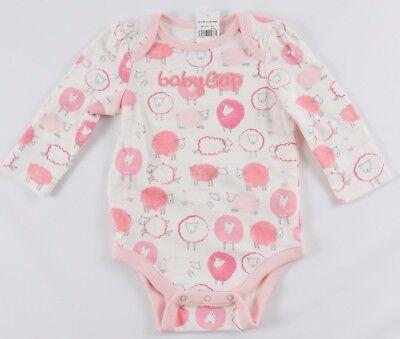 NWT Girls BabyGap Logo One Piece Bodysuit Lamb Print - 922064 Girls One Piece Bodysuit