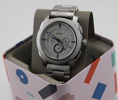 NEW AUTHENTIC FOSSIL MACHINE CHRONOGRAPH SILVER GREY MEN'S FS5324 WATCH