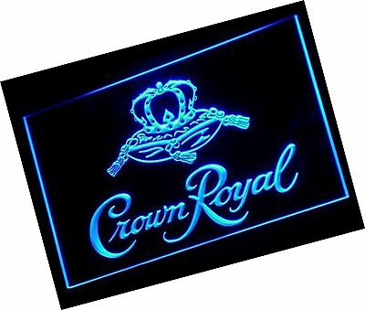 Crown Royal Whiskey beer Bar LED Neon Light Sign Man Cave A1