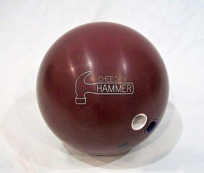 Rare Original 16lb Burgundy Hammer Fab Faball Urethane Vintage Bowling Ball
