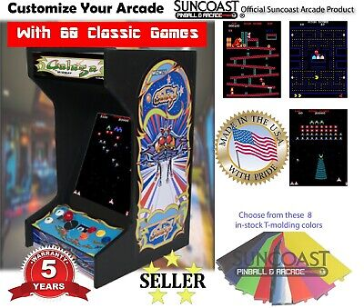 🔥New Galaga Bartop Tabletop Arcade Machine-60 Classic Games-Plug & Play🔥