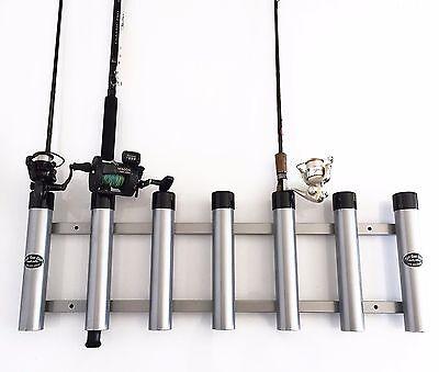 - Aluminum Rod Storage Holder 7 with protective end caps. High Seas Gear Rod Racks