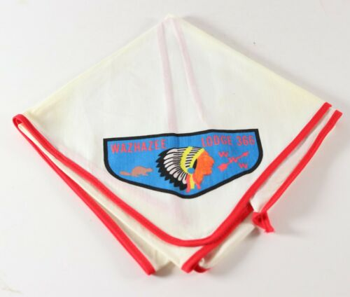 Vtg Wazhazee Lodge 366 WWW Order Arrow OA Boy Scouts of America BSA Neckerchief