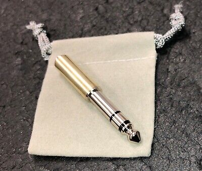"AUDIOPHILE ADAPTOR STEREO 1/4"" MALE 1/8"" 3.5mm FEMALE HEADPHONE PLUG TOP QUALITY for sale  Shipping to India"