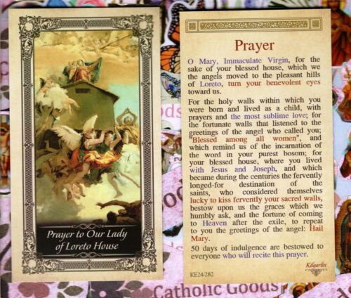 Prayer to Our Lady of Loreto House - Glossy Paperstock Holy Card