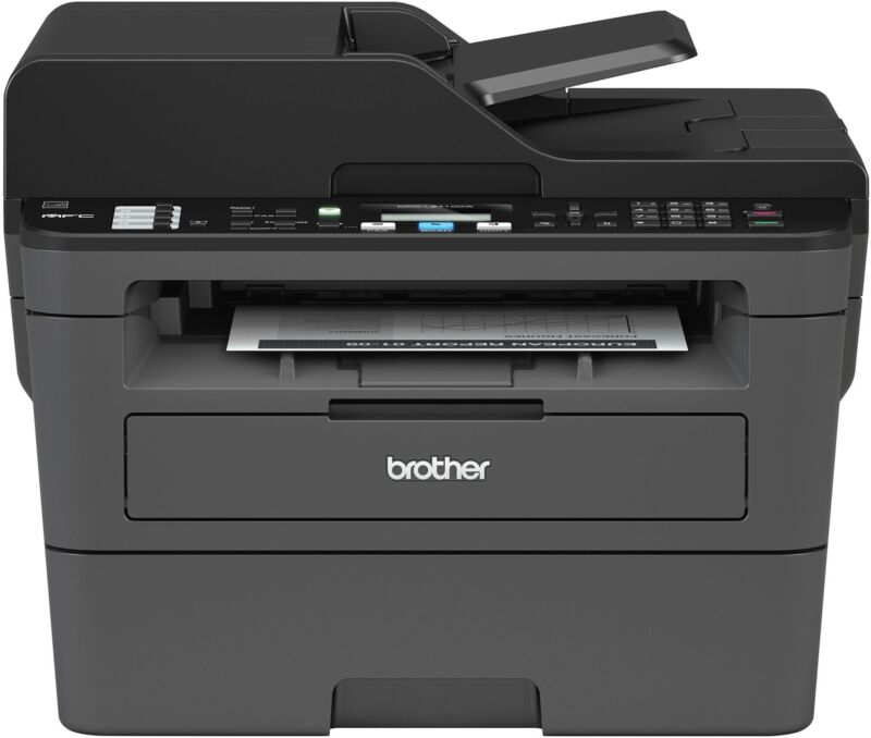Brother - MFC-L2710DW Wireless-and-White All-in-One Laser Printer - Black